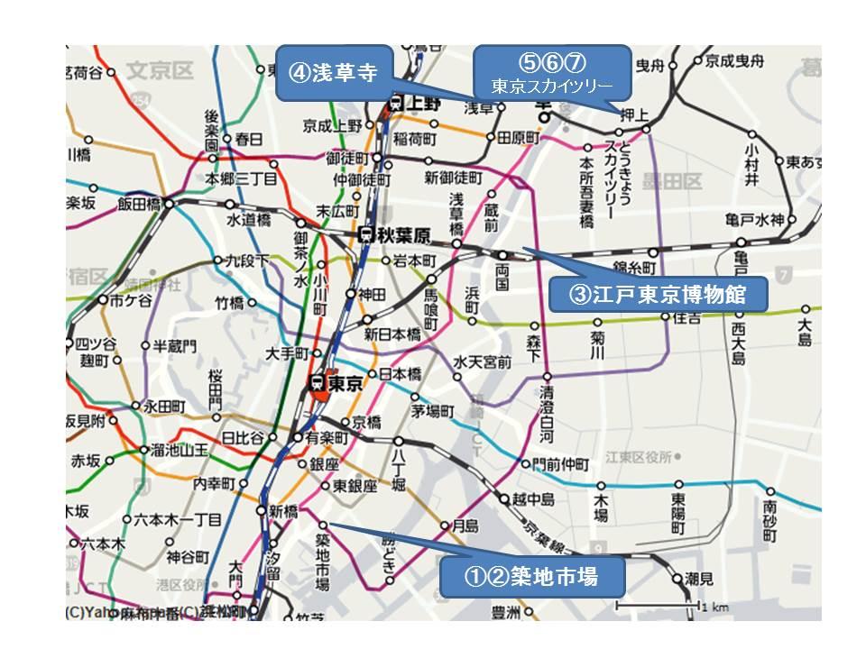 東京下町 路線図